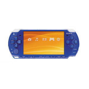Sony PSP 2000 Madden 09 Metallic Blue Handheld System With Charger