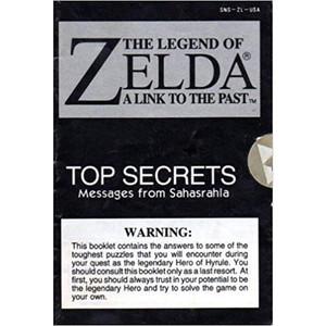 Legend of Zelda Link To the Past Top Secrets - SNES Manual
