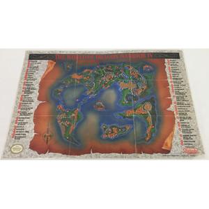 Dragon Warrior IV World Map NES