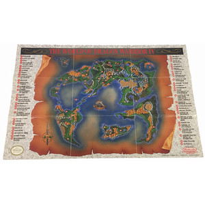 Dragon Warrior IV World Map Front - NES Manual