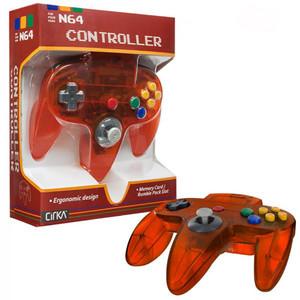 New Cirka Replica Controller Clear Fire Orange - N64