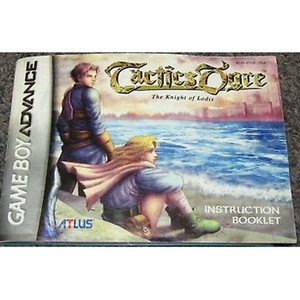 Tactics Ogre The Knight of Lodis Manual For Nintendo GBA