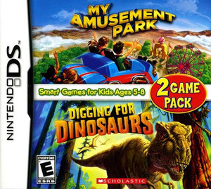 My Amusement Park/Digging for Dinosaurs Game Pack - DS Game
