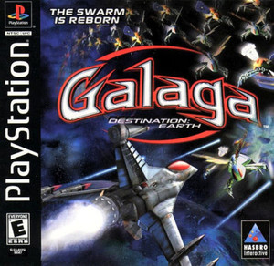 Complete Galaga: Destination Earth - PS1 Game