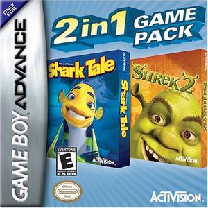 Shrek 2 and Shark Tale 2 in 1 - Game Boy Advance Game