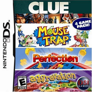 Clue/Mouse Trap/Perfection/Aggravation - DS Game