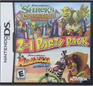Shrek's Carnival Craze/Madagascar Kartz - DS Game