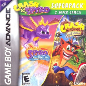 Crash and Spyro Superpack: Season of Ice & Huge Adventure - Game Boy Advance Game