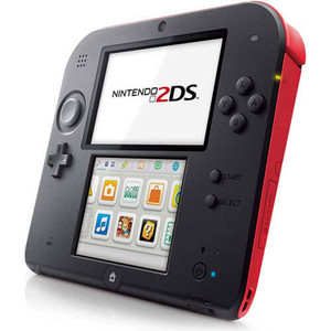 Nintendo 2DS Red Handheld System with Charger