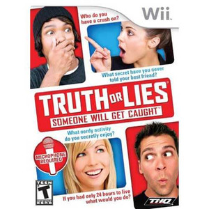 Truth or Lies Someone will Get Caught - Wii Game