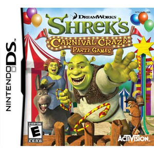 Shrek's Carnival Craze Party Games Nintendo DS game box art image pic