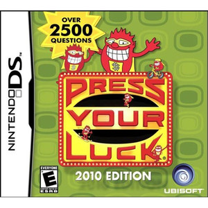 Press Your Luck 2010 Edition  Nintendo DS game box art image pic