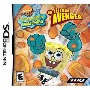SpongeBob SquarePants Yellow Avenger Nintendo DS game box art image pic