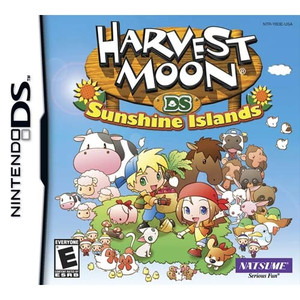 Harvest Moon Sunshine Islands DS game box art image pic