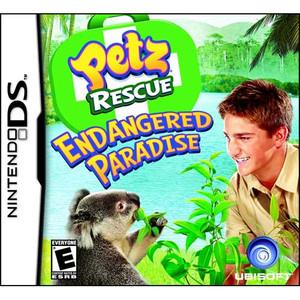 Petz Rescue Endangered Paradise Nintendo DS game box image pic