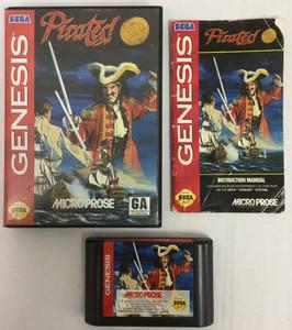 Complete Pirates Gold CIB Sega Genesis used video game for sale.