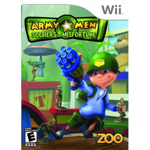 Army Men Soldiers of Misfortune Nintendo Wii used video game for sale.