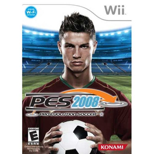 Pro Evolution Soccer 2008 Nintendo Wii used video game for sale.