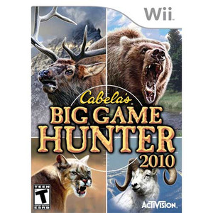 Cabela's Big Game Hunter 2010 Nintendo Wii used video game for sale.
