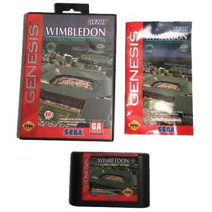 Complete Wimbledon Championship Tennis Sega Genesis cib game for sale.