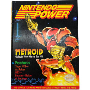 Nintendo Power #31 Magazine Super Metroid Super SNES cover.