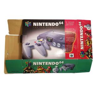 Original Nintendo N64 Empty System Box Front - Empty N64 Box