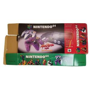 Original Nintendo N64 Atomic Purple Empty System Box Front