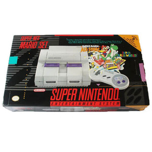 SNES Mario Set System Complete in Box