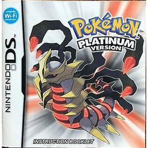 Pokemon Platinum Version Manual For Nintendo DS