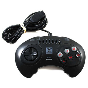 High Frequency 6 Button Black Controller - Genesis