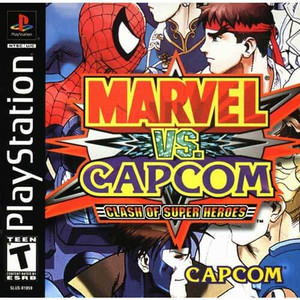 Marvel Vs. Capcom Clash of Super Heroes - PS1 Game