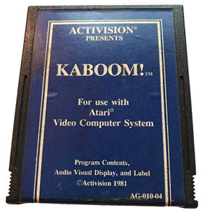 Kaboom (Blue Label) - Atari 2600 Game