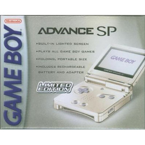 Complete Game Boy Advance SP System Pearl White