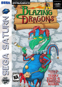 Blazing Dragons Sega Saturn Complete CIB Game for sale.
