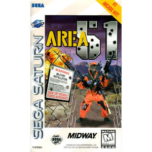 Area 51 Sega Saturn comcplete CIB game for sale.