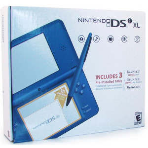 Complete Nintendo DSi XL Blue Handheld System w/ Charger in Box