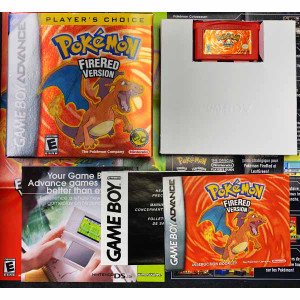 Pokemon Fire Red Players Choice CIB Complete Nintendo Gameboy Advance GBA Game For Sale.