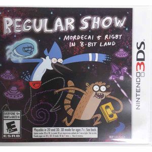 Regular Show Mordecai and Rigby in 8-Bit Land Nintendo 3ds Game  for sale.