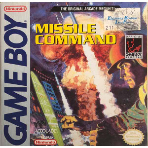 Missile Command Complete CIB Nintendo Game Boy game for sale.