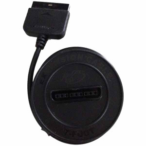 Controller Extension Cable Black Spool for PS1 and PS2