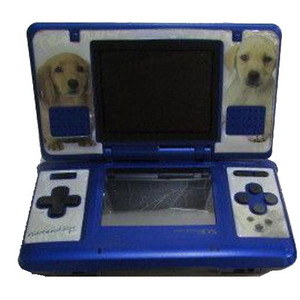 Nintendo DS Blue with Nintendogs Skin Opened - Discounted