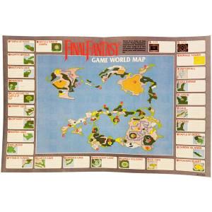 Final Fantasy World Map - NES Map