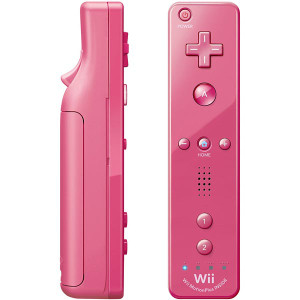 Original Pink Motion Plus Remote Controller - Wii