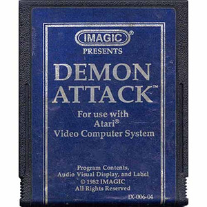 Demon Attack (Blue Label) - Atari 2600 Game