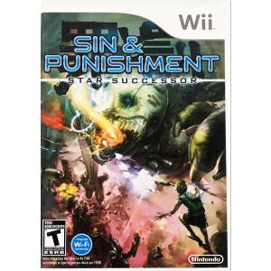 Sin & Punishment Star Successor Nintendo Wii Game case back upc