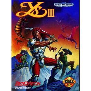YS III: Wanderers From YS Empty Genesis Box