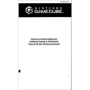 Precautions Booklet - GameCube Manual