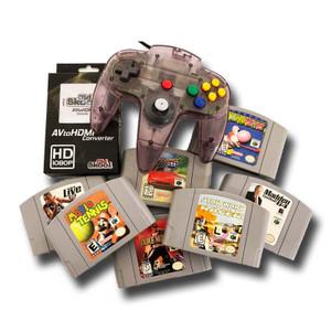 Nintendo 64 7 Game Gift Bundle, 1 Original N64 Controller and HDMI Hookup for sale.