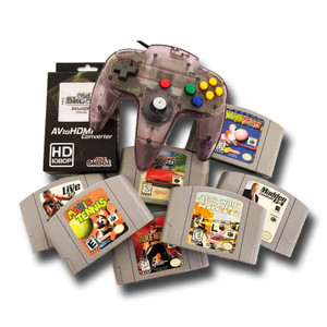 Nintendo 64 7 Game Gift Bundle, 1 Original N64 Controller and HDMI Hookup for sale.
