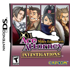 Miles Edgeworth Ace Attorney Investigations - DS Game